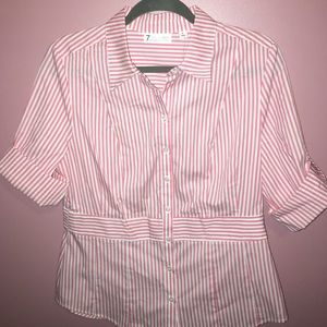 New York & Company Tops - New York & Company Pink Shirt